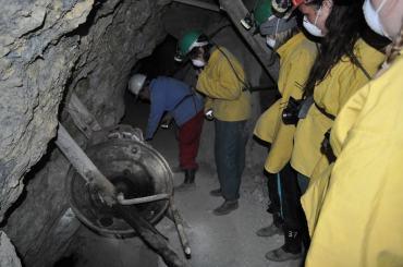 Underground at The Cerro Rico Mines