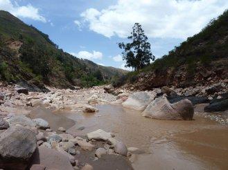 Walking along the river to Secret Canyon