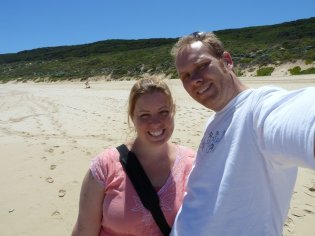Bill & Eva at Yallingup beach