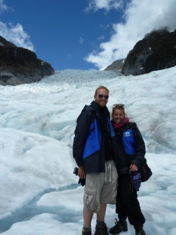 Bill & Eva on the Fox Glacier