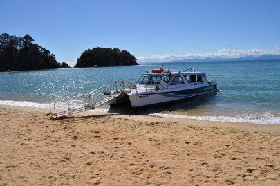 Our boat for exploring Abel Tasman