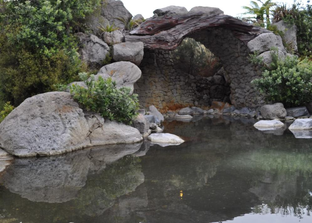 One of the hot pools