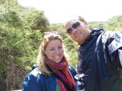 Bill & Eva at Wai-o-tapu