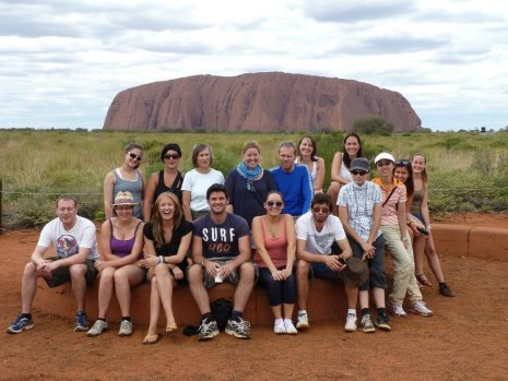 Our group at Ayres Rock