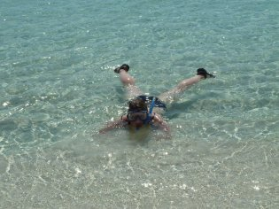 Eva swimming at Rottnest Island