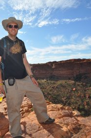 Bill on the edge of Kings Canyon