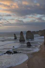 The Twelve Apostles with the sun starting to set