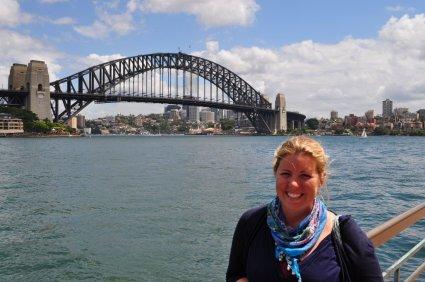 Eva at Sydney harbour bridge