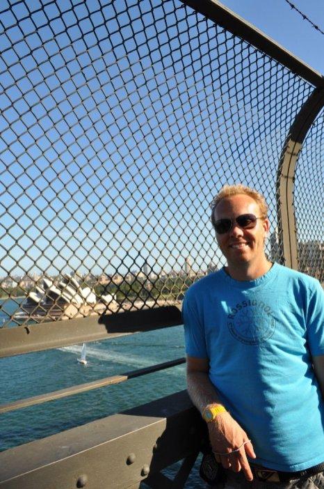 On the bridge Overlooking the opera house