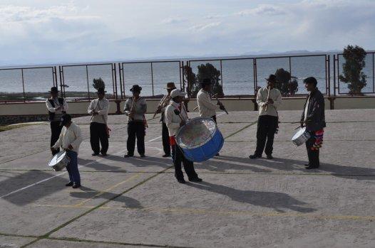 Local band at the Chucuito Peninsula