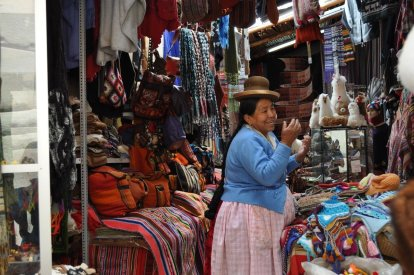 Typical Cusco market stall, all market stalls in Peru seem to sell the same stuff