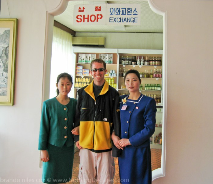 Small shop we stopped at on the way to the DMZ in North Korea. I bought a handmade wooden house.