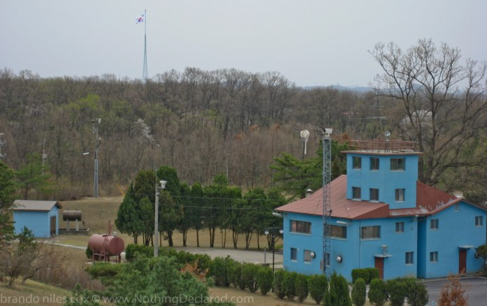 South Korean Flag, seen from North Korean side of the DMZ