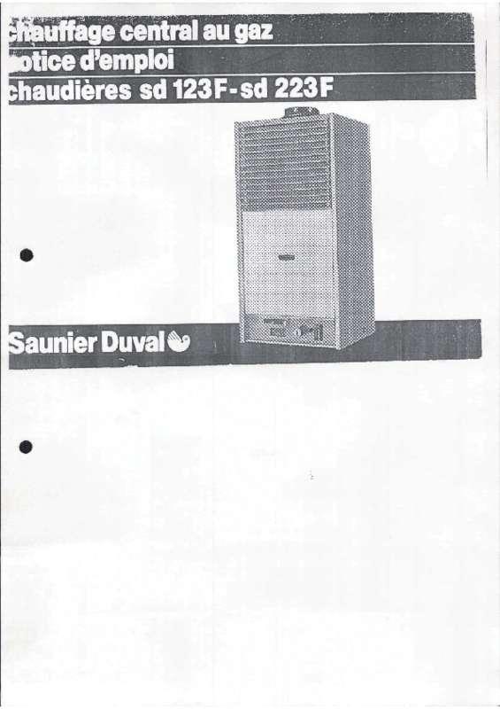 Notice D Utilisation Saunier Duval Sd 123 F Saunier Duval Manuel Et Mode D Emploi