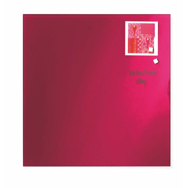 Franken Magnetic Glassboards 350 x 350mm Red