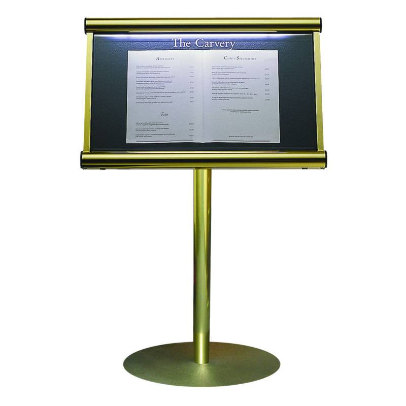 Hotel & Hospitality Scroll Menu Case Stand Mounted