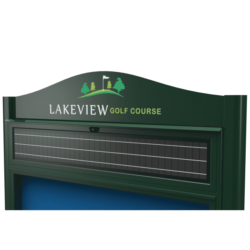 Solar Powered Wall Mounted Outdoor Noticeboard