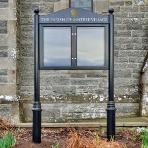 Lynester Double Door Post Mounted Notice Board