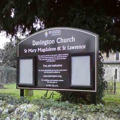 Stormguard External Church Sign Panel
