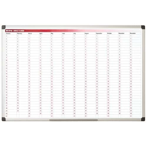 Magnetic Colour Annual Wall Planner (365 Days)