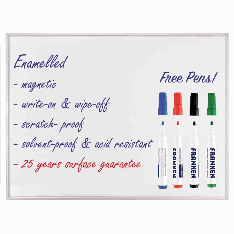 Professional Enamel Whiteboards - Free Pens