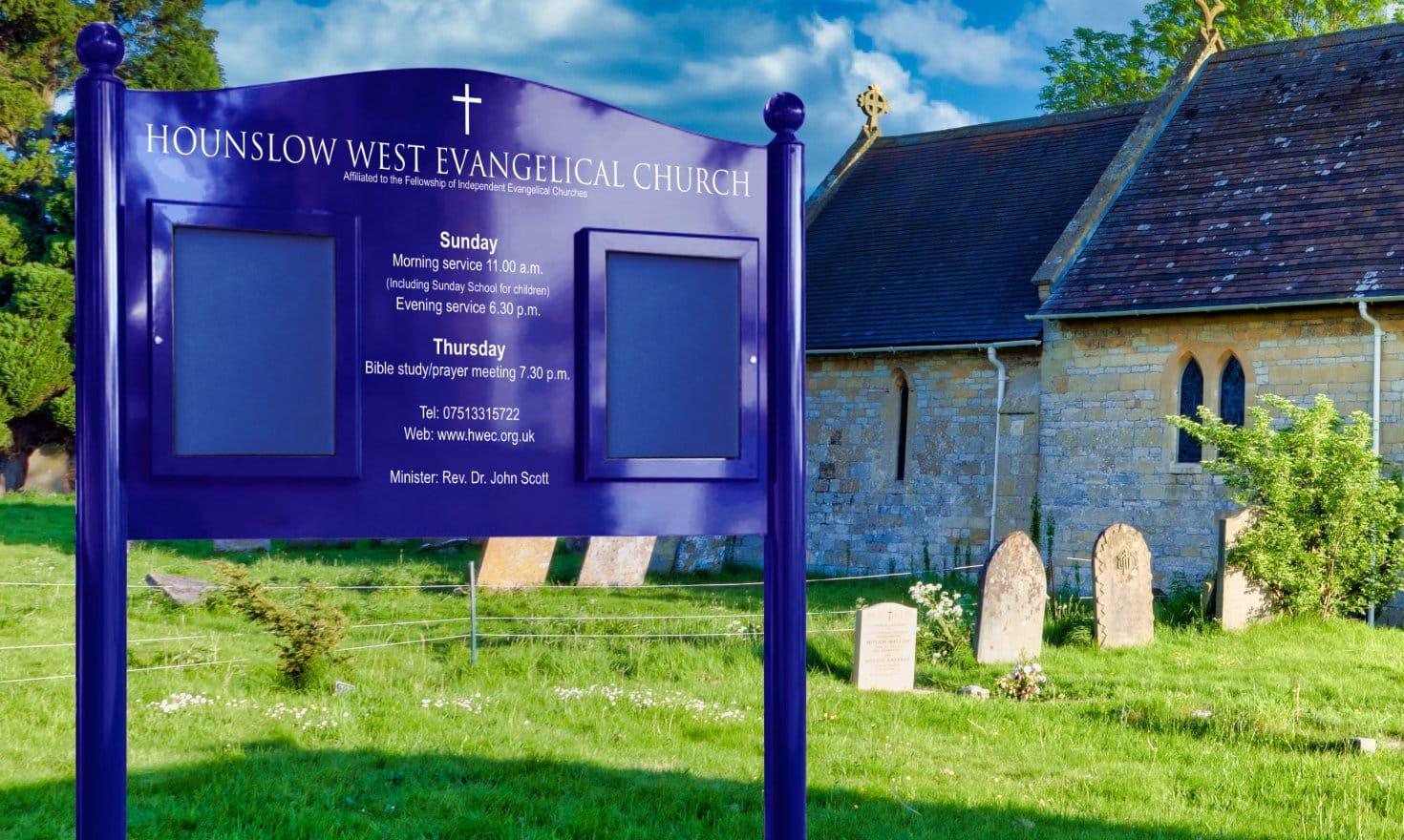Signum Church Notice Board