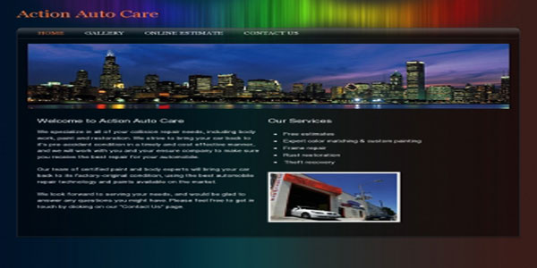 Colourful custom website design example | Noticedwebsites