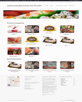 Ecommerce restaurant store | Noticedwebsites.com