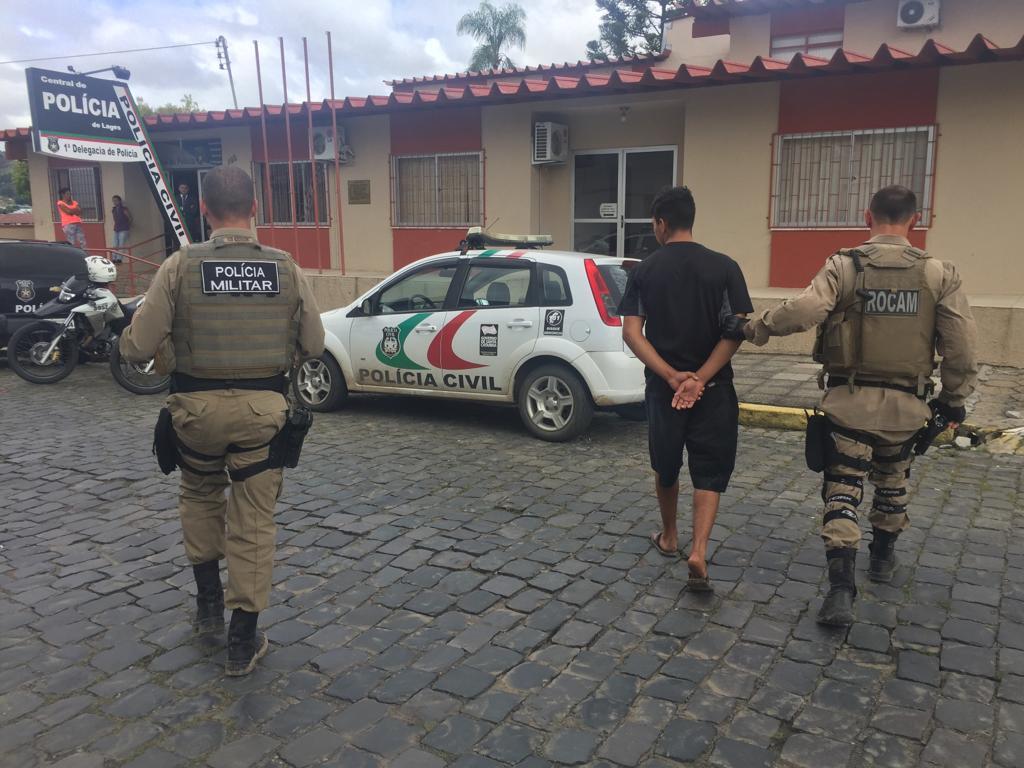 Polícia Militar apreende adolescente suspeito de homicídio em Lages