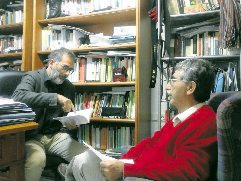 José Marcelo (a la derecha) con Francisco Guerrero