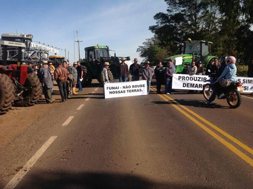 Manifestação em Pontão/RS