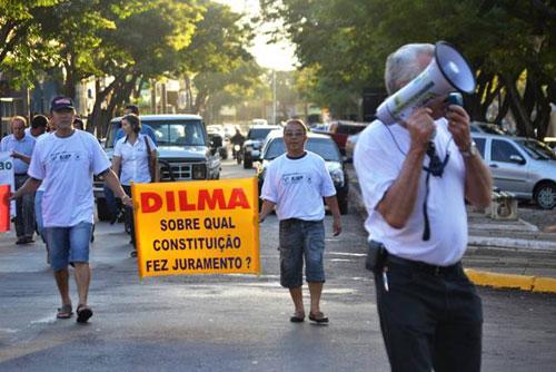 Manifestação em Guaira/PR