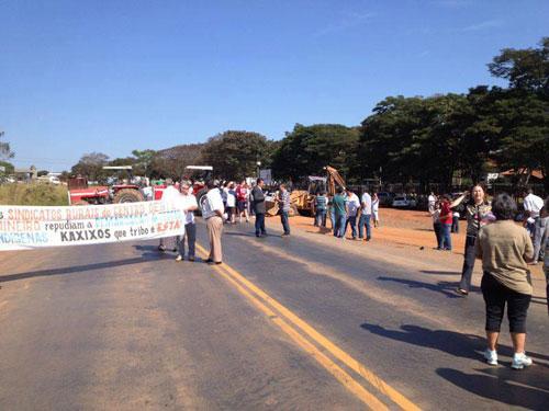 Manifestação na MG-164