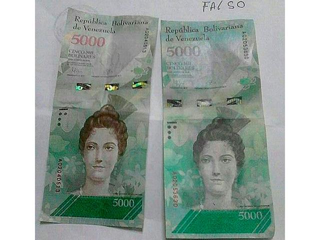 ¡ATENTOS! Publican los seriales de los billetes falsos de Bs. 5000 que andan rodando