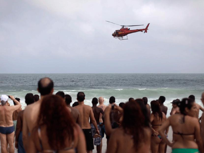 Maniobra del helicóptero donde iba Reverol causó terror en playa de Miranda (Imágenes)
