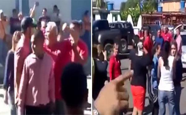 A palo limpio corrieron a funcionarios que intentaban tomar una panadería en Falcón (Imágenes)