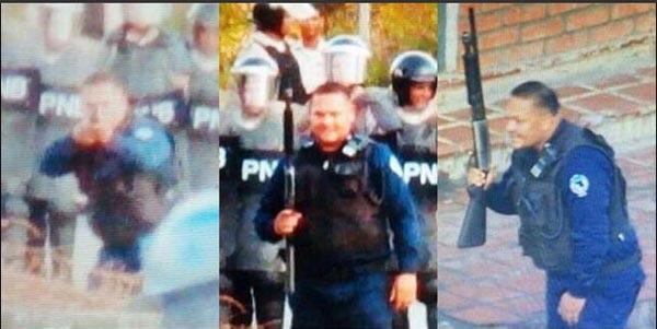 Momento en que PoliAnzoátegui introduce una metra en su arma durante represión (+Video)