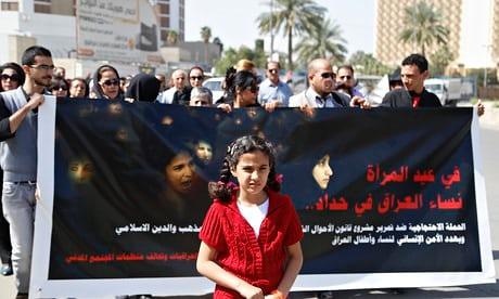 protesta en Irak por ley que elimina edad mínima para contraer matrimonio