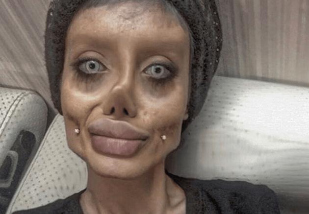 Mujer iraní que impacta por su aspecto físico