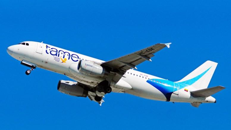 Avión de la aerolínea Tame