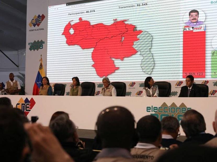 """El """"pelón"""" de Tibisay Lucena al anunciar resultados electorales"""