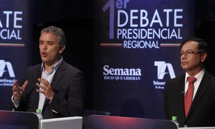 Debate entre Duque y Petro elecciones Colombia