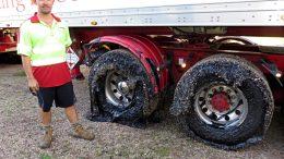 El extremo calor derrite neumáticos en Australia