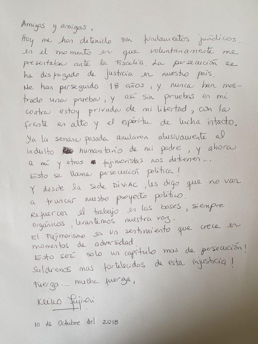 carta de fujimori