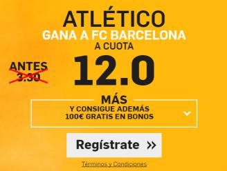 Supercuota Betfair Atlético gana Barcelona