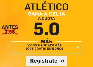Supercuota Betfair Atlético gana Celta
