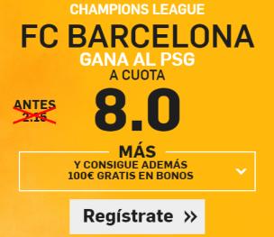 Supercuota Betfair Barcelona