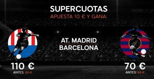 Supercuotas apuesta 10€ y gana Barcelona
