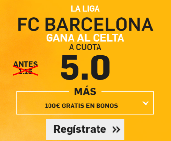 Supercuota Betfair Barcelona Celta