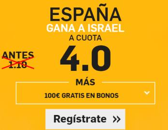 Supercuota Betfair España Israel